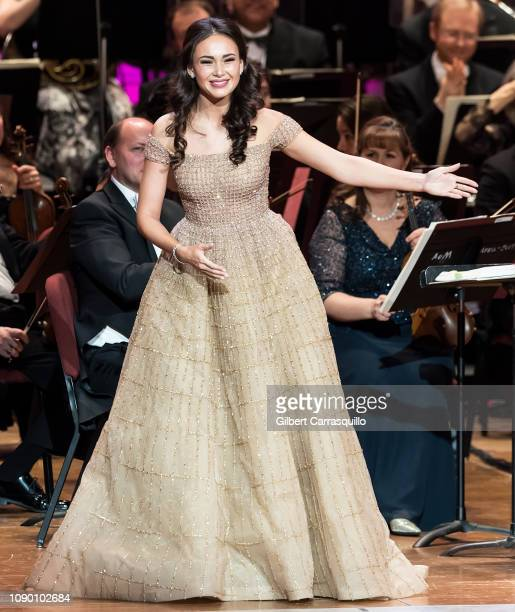 Operatic soprano Aida Garifullina performs on stage during the 162nd Academy Of Music Anniversary Concert Ball at the Academy of Music on January 26...