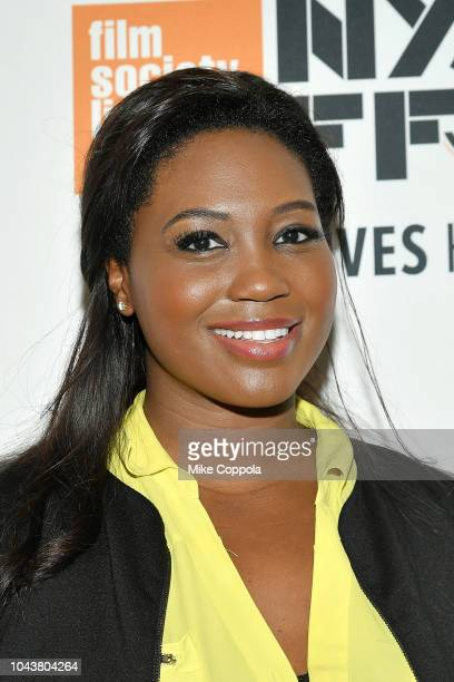 Operatic soprano Angel Blue attends the 56th New York Film Festival Maria by Callas at Alice Tully Hall Lincoln Center on September 30 2018 in New...
