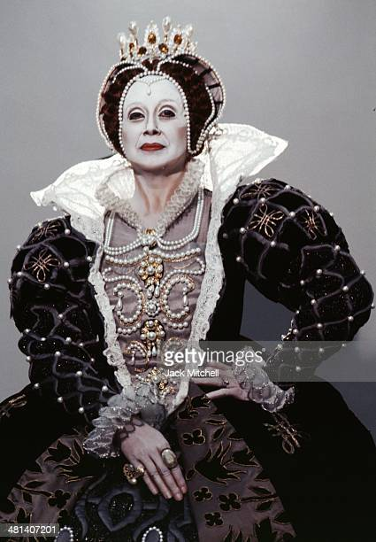Operatic soprano Beverly Sills in costume as Elizabeth I in Donizetti's Roberto Devereux at the New York City Opera in 1972