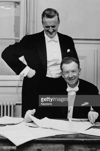 Operatic tenor Peter Pears with English composer Benjamin Britten 6th November 1962