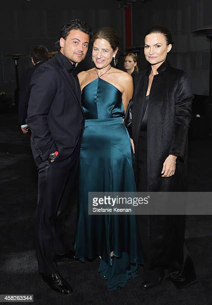 Operatic tenor Vittorio Grigolo, Katherine Ross and Rosetta Getty attend the 2014 LACMA Art + Film Gala honoring Barbara Kruger and Quentin Tarantino...