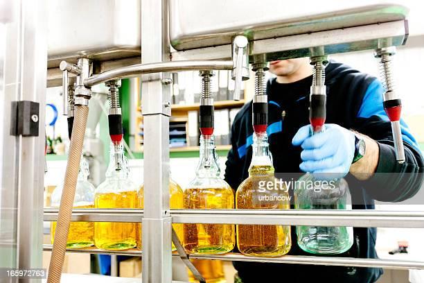 Équipements de mise en bouteille de cidre d'exploitation
