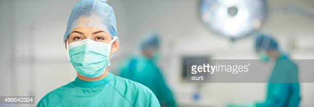operating theatre nurse portrait