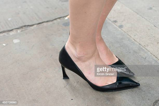 Operating Vice President Fashion Director Women's ReadyToWear at Bloomingdales Brooke Jaffe is wearing Dior shoes on day 3 of London Collections...