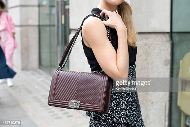 Operating Vice President Fashion Director Women's ReadyToWear at Bloomingdales Brooke Jaffe is wearing Proenza Schouler dress and Chanel bag on day 3...
