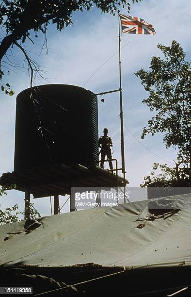 The Commonwealth Monitoring Force In Rhodesia 1979 1980 The Union Jack flag flies over Assembly Area Alpha in north east Rhodesia during the seven...