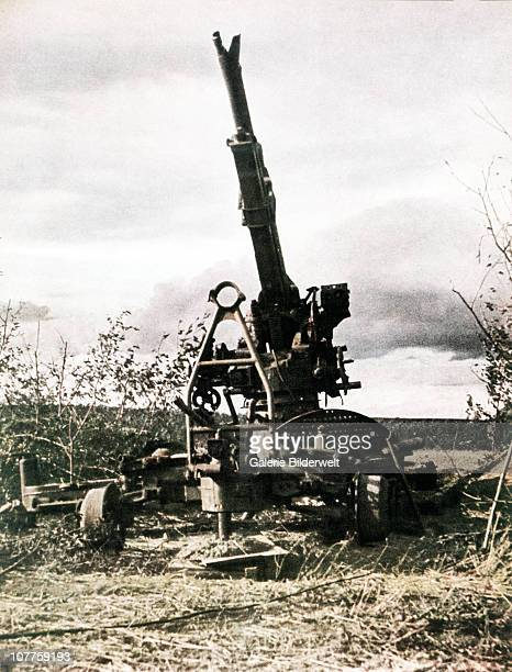 Operation Barbarossa A Russian AA gun has been destroyed during the invasion 1942 Over 45 million troops of the Axis powers participated in the...