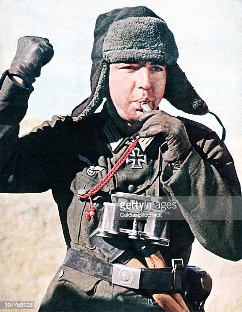Operation Barbarossa Wehrmacht troops are moving deeper into Russia 1942 They are part of over 45 million troops of the Axis powers during the...