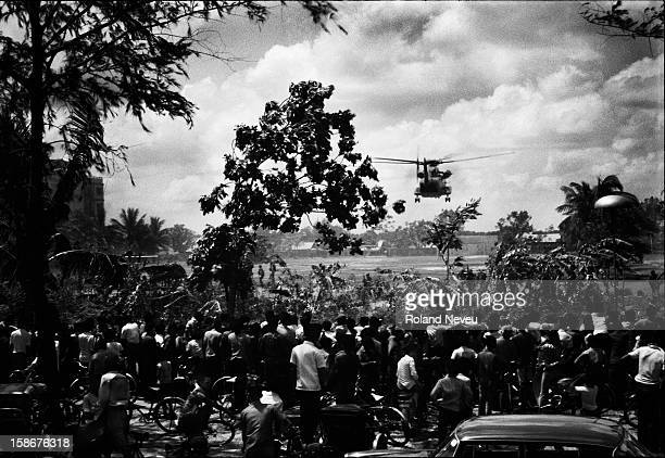 Operation Eagle Pull. Evacuation of the Americans, 12 April 1975. That was signaling the en dof the American involvement in the conflict. Helicopters...