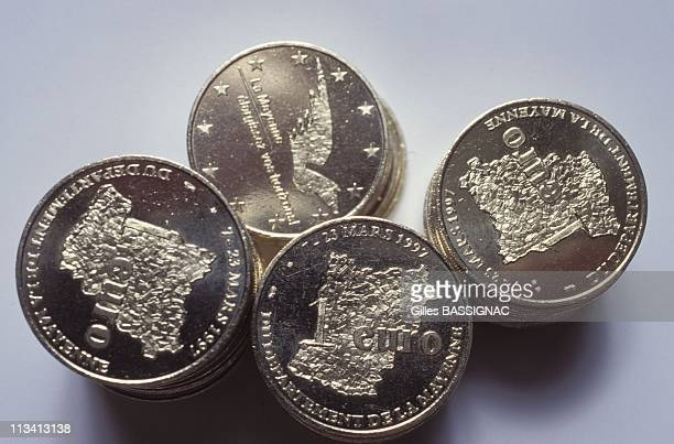 Operation 'Euro' In Mayenne Manufacture Of Coins On February 6th 1997 In Laval France