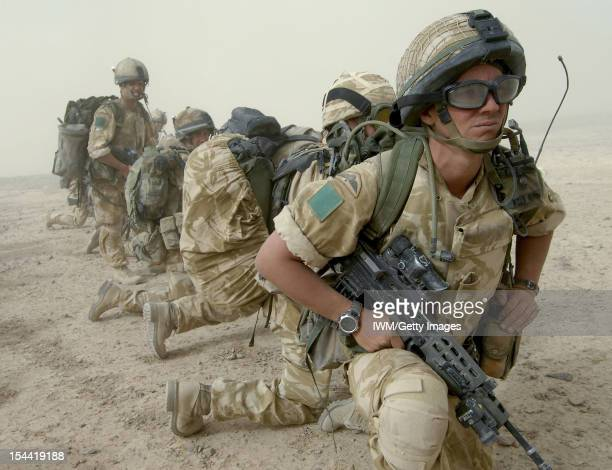 British Forces In Afghanistan 2006 - 2007, Operations in Nowzad, Helmand, Afghanistan, 30 - 31 July 2006. Soldiers of 3 Parachute Regiment and D...