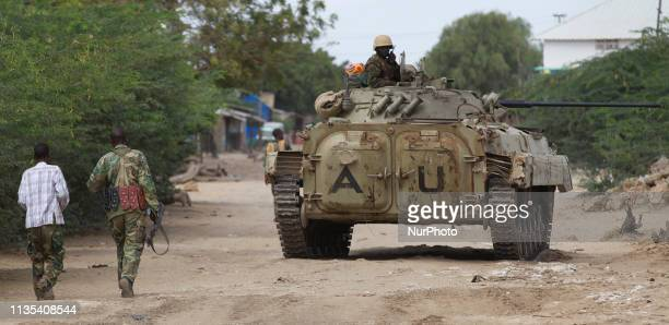 Operation Indian Ocean was headed by the Ugandan contingent of AMISOM to retake the town of Kurtonwarey in Lower Shabelle. A Ugandan BMP-3 moving...