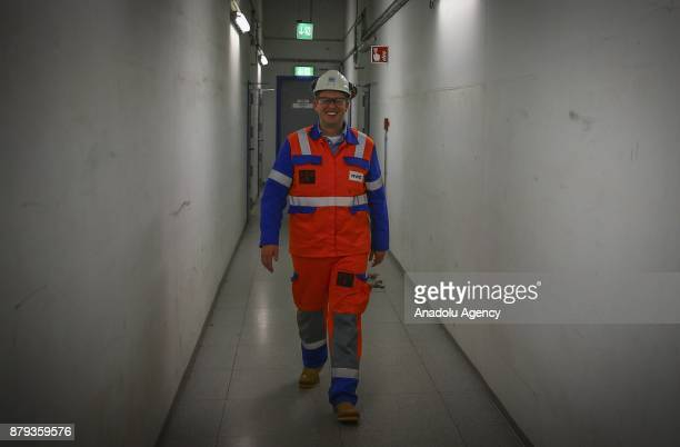 Operation Manager of WE AG Eemshaven Power Plant Marinus Tabak poses during a press tour at RWE AG Eemshaven Power Plant in Groningen the Netherlands...