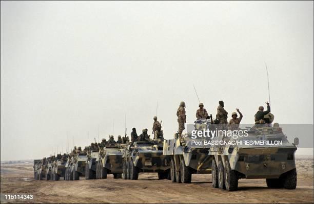 Operation of Desert Storm the border Kow in Saudi Arabia on January 19 1991 Saudi Arabian troops