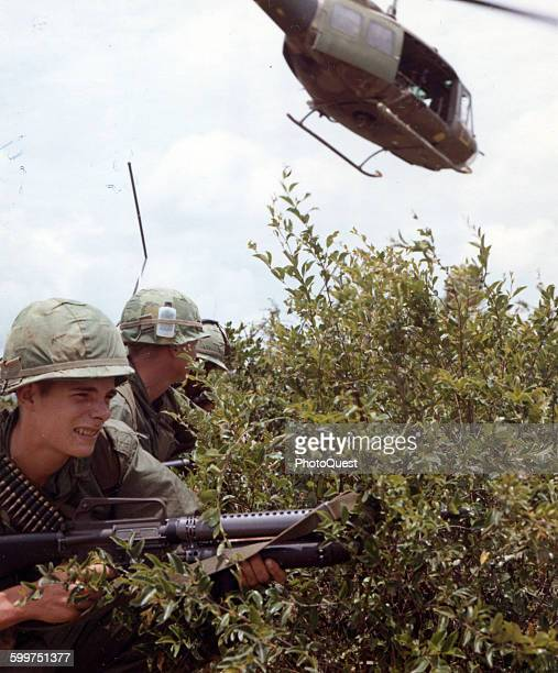 Operation Oregon a search and destroy mission conducted by an infantry platoon of Troop B 1st Recon Sqd 9th Cav 1st Cav Div three km west of Duc Pho...