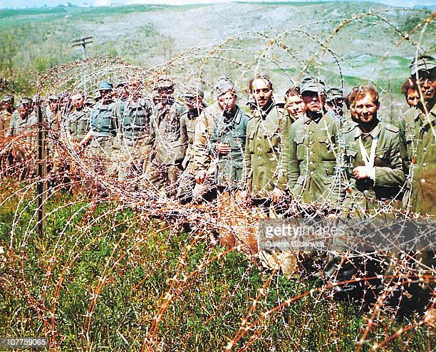 Operation Overlord Normandy German Prisoners of War have been put behind barbed wire in Normandy June 1944 More than 200000 German soldiers were...