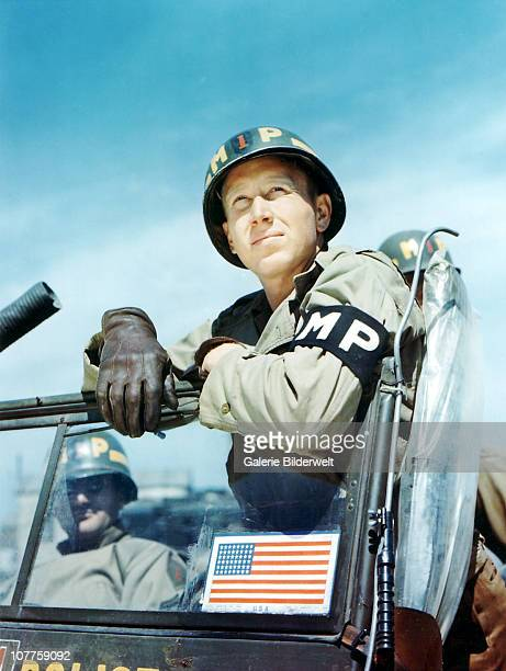 Operation Overlord Normandy Private Clyde Peacock 1st Military Police Platoon of the 1st Infantry Division of the United States Army June 1944The 1st...