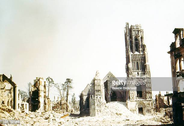 Operation Overlord Normandy The church Notre Dame has been heavily damaged during the attacks on SaintLo August 1944 The town was almost totally...