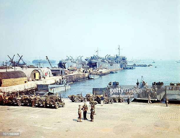 Operation Overlord Vessels are waiting for the start of DDay operations in an English port of embarkation 4th June 1944 USS LST314 departed English...