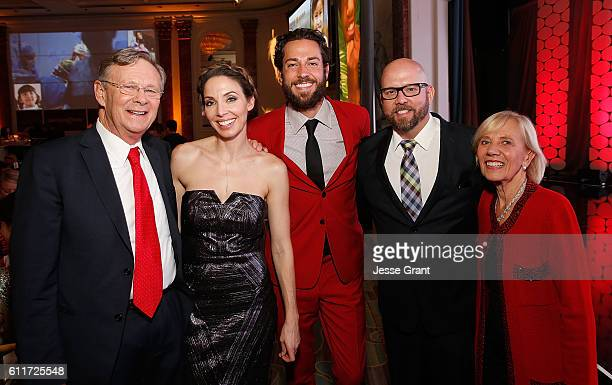 Operation Smile cofounder Bill Magee actress Whitney Cummings actor Zachary Levi The Nerd Machine cofounder David Coleman and Operation Smile...