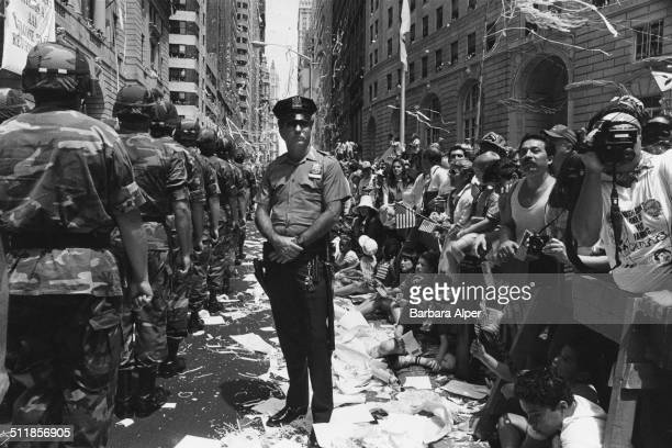Operation Welcome Home, a tickertape parade in New York City, to welcome the troops home from Operation Desert Storm, during the Gulf War, 10th June...
