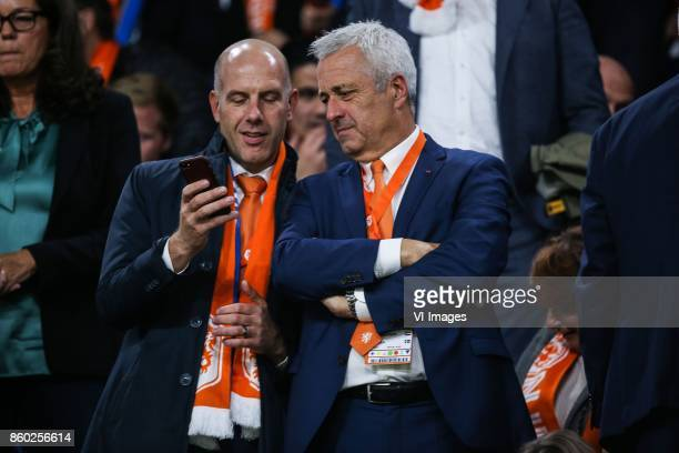operationeel directeur betaald voetbal Gijs de Jong commercieel directeur JeanPaul Decossaux during the FIFA World Cup 2018 qualifying match between...