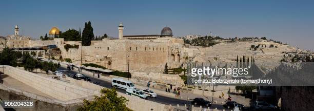 ophel archaeological park in jerusalem as seen from the jewish quarter - historical palestine stock pictures, royalty-free photos & images