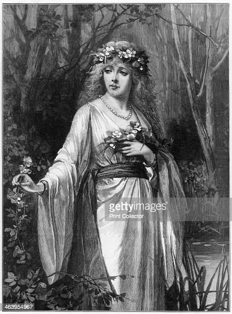 'Ophelia' 1892 Scene from Shakespeare's Hamlet There's fennel for you and columbines A print from the Illustrated London News