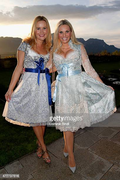 Ophelia Blaimer and Alessandra Geissel during the Kempinski Hotel Berchtesgaden opening party on May 8 2015 in Berchtesgaden Germany