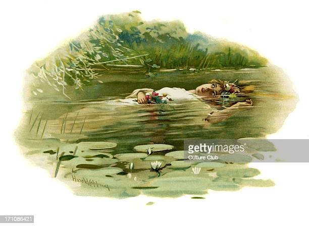 Ophelia drowning in Hamlet Prince of Denmark by William Shakespeare Act IV Scene 7 Illustration by Harold Copping English poet and playwright...