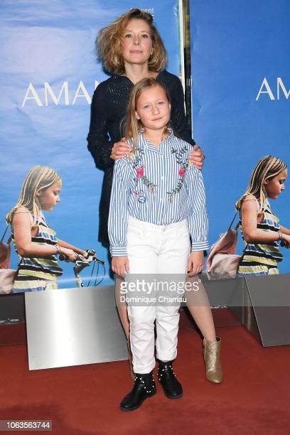 Ophelia Kolb and Isaure Multrier attend Amanda Paris Premiere at UGC Cine Cite des Halles on November 19 2018 in Paris France