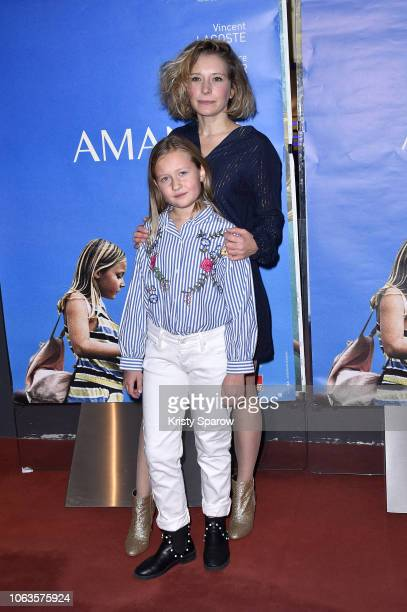 Ophelia Kolb and Isaure Multrier attend the 'Amanda' Paris Premiere at UGC Cine Cite des Halles on November 19, 2018 in Paris, France.