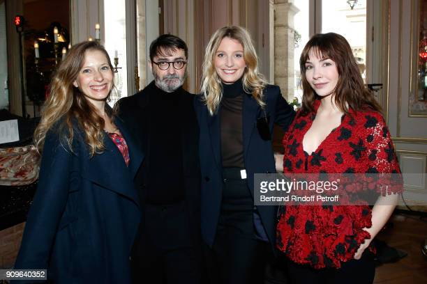 Ophelia Kolb Franck Sorbier Pauline Leprince and Alix Benezech attend the Franck Sorbier Haute Couture Spring Summer 2018 show as part of Paris...
