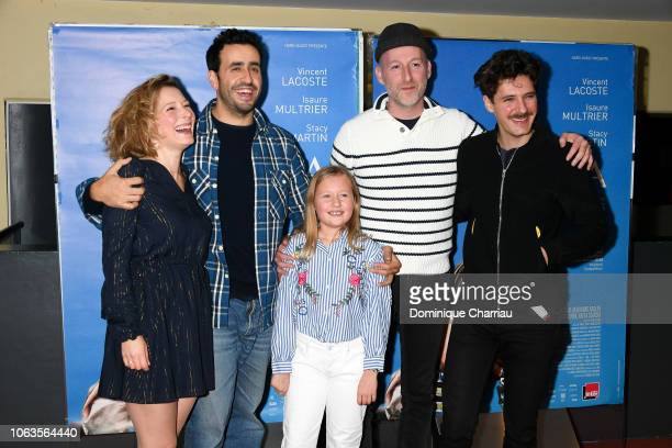 Ophelia Kolb Jonathan Cohen Isaure Multrier Michael Hers and Vincent Lacoste attend Amanda Paris Premiere at UGC Cine Cite des Halles on November 19...