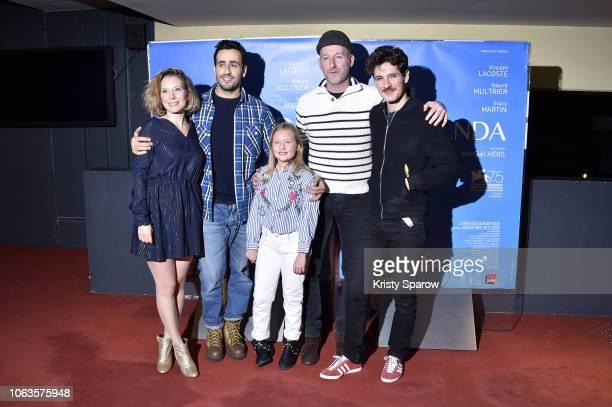 Ophelia Kolb Jonathan Cohen Isaure Multrier Michael Hers and Vincent Lacoste attend the Amanda Paris Premiere at UGC Cine Cite des Halles on November...
