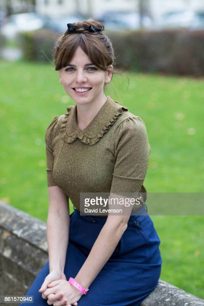 Ophelia Lovibond actor in W1A during the Cheltenham Literature Festival on October 15 2017 in Cheltenham England