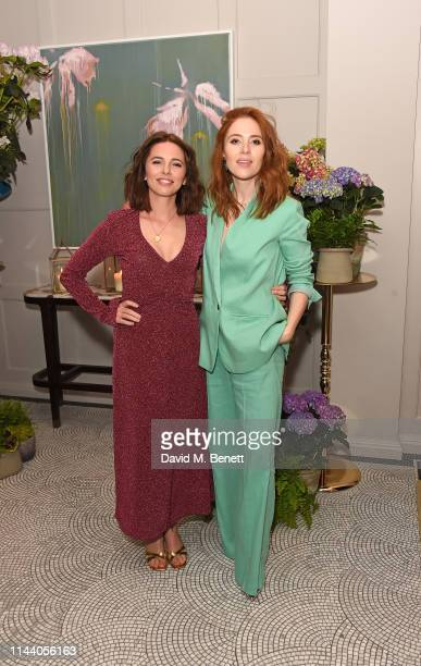 Ophelia Lovibond and Angela Scanlon attend the Belmond Cadogan Hotel Summer Salon and Grand Opening supported by London Perfumer Miller Harris in...