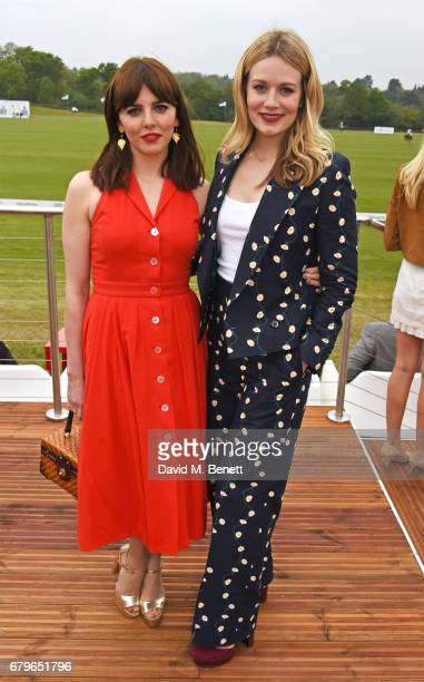 Ophelia Lovibond and Cara Theobold attend the Audi Polo Challenge at Coworth Park on May 6 2017 in Ascot United Kingdom