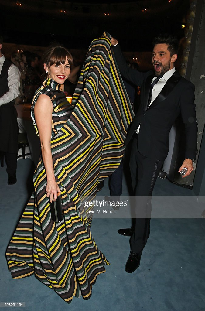 Ophelia Lovibond (L) and Dominic Cooper attend The 62nd London Evening Standard Theatre Awards after party, recognising excellence from across the world of theatre and beyond, at The Old Vic Theatre on November 13, 2016 in London, England.