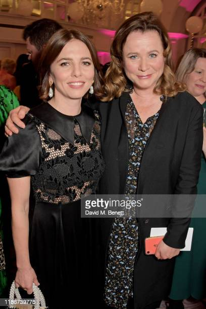 Ophelia Lovibond and Emily Watson attend the Women in Film and TV Awards 2019 at Hilton Park Lane on December 06 2019 in London England