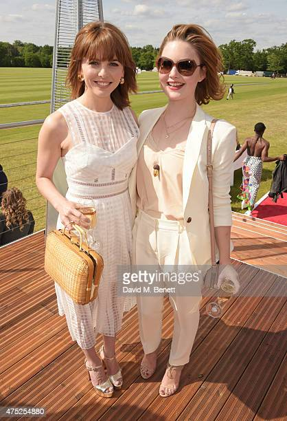 Ophelia Lovibond and Holliday Grainger attend day one of the Audi Polo Challenge at Coworth Park on May 30 2015 in London England