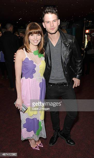 Ophelia Lovibond and Jeremy Irvine attend the 'Into Film Awards' at The Empire Cinema on March 24 2015 in London England