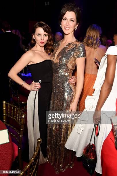 Ophelia Lovibond and Margo Stilley attend The 64th Evening Standard Theatre Awards after party at the Theatre Royal Drury Lane on November 18 2018 in...