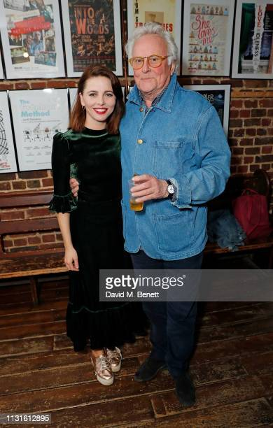"""Ophelia Lovibond and Richard Eyre attend the press night after party for """"The Bay At Nice"""" at The Menier Chocolate Factory on March 19, 2019 in..."""