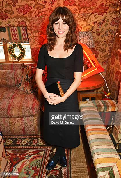 Ophelia Lovibond attends as Lulu Guinness Jasmine Guinness celebrate Christmas with friends at Upstairs 5 Hertford Street on December 7 2016 in...