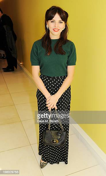 Ophelia Lovibond attends the English National Ballet Christmas Party at St Martins Lane Hotel on December 13 2012 in London England