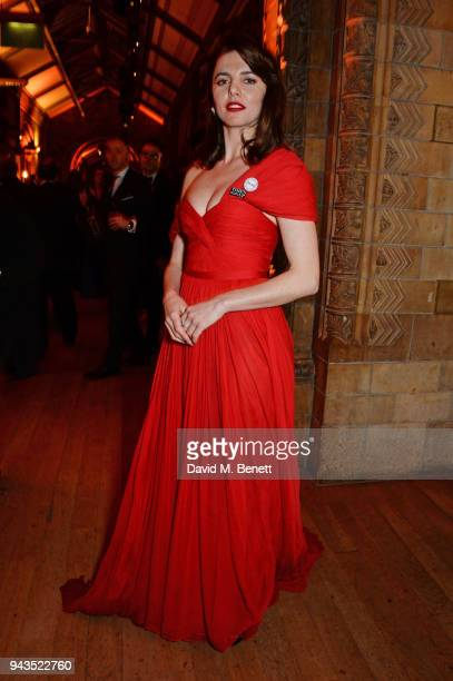 Ophelia Lovibond attends The Olivier Awards with Mastercard after party at the Natural History Museum on April 8 2018 in London England