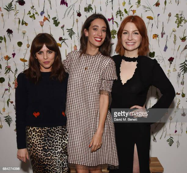 Ophelia Lovibond Laura Jackson and Alice Levine attend the launch of new book 'Jackson Levine Round To Ours' by Laura Jackson and Alice Levine at...