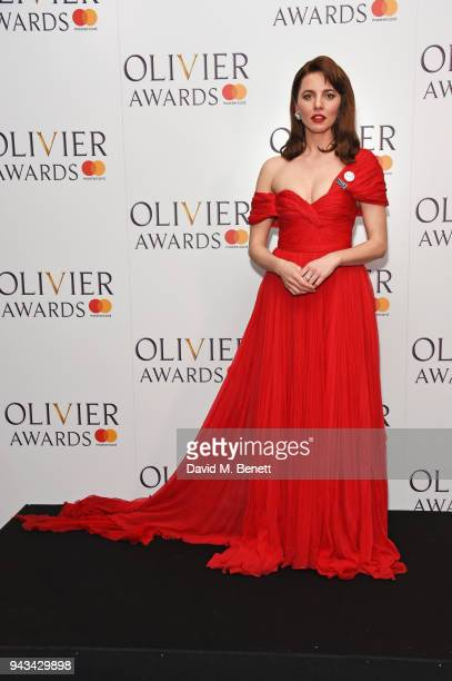 Ophelia Lovibond poses in the press room during The Olivier Awards with Mastercard at Royal Albert Hall on April 8 2018 in London England