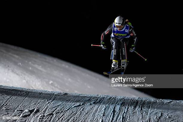 Ophelie David of France takes 3rd place during the FIS Freestyle Ski World Cup Men's and Women's Ski Cross on December 13, 2016 in Arosa, Switzerland.
